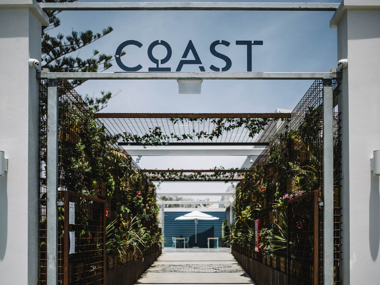 The Entrance Sign For The Coast Port Beach.