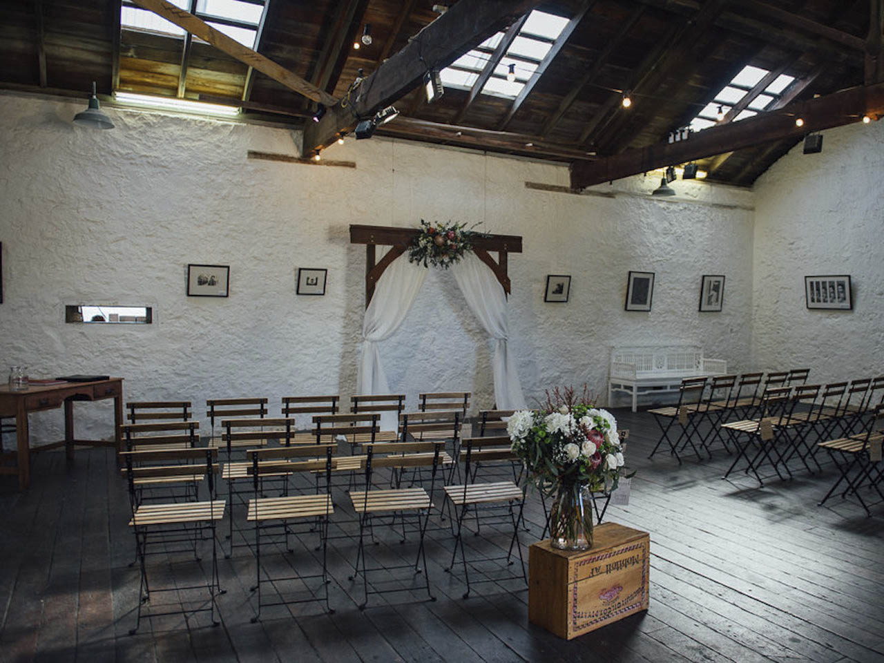 A Wedding Set Up In The Arthouse