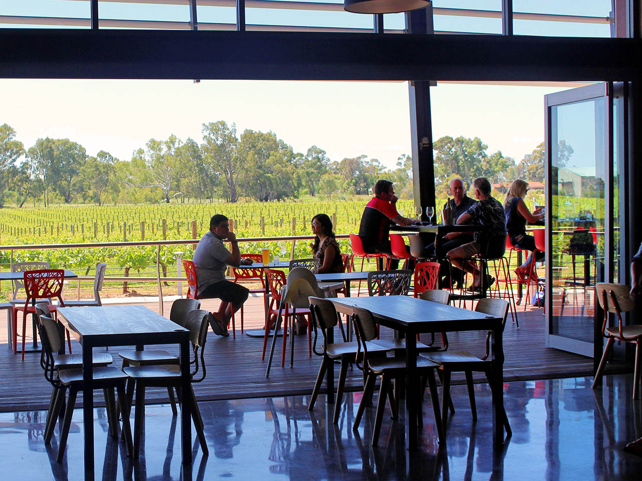 Function room winery views