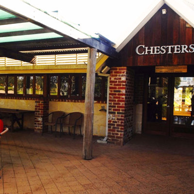 Front entrance with Chesters signage above door