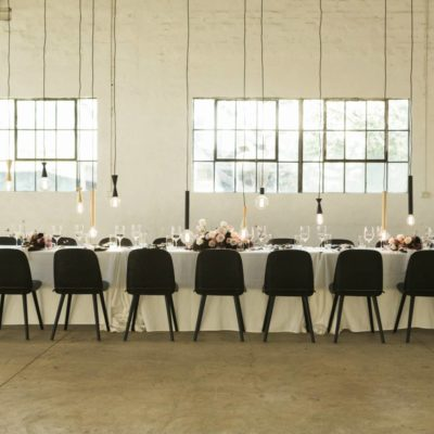 Long Dining Table Dressed For A Wedding