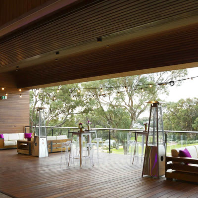 Timber Deck That Opens Up To A View Of Bushland.