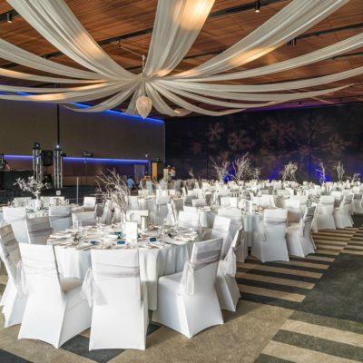 Ballroom set up ready for a wedding at Joondalup Resort