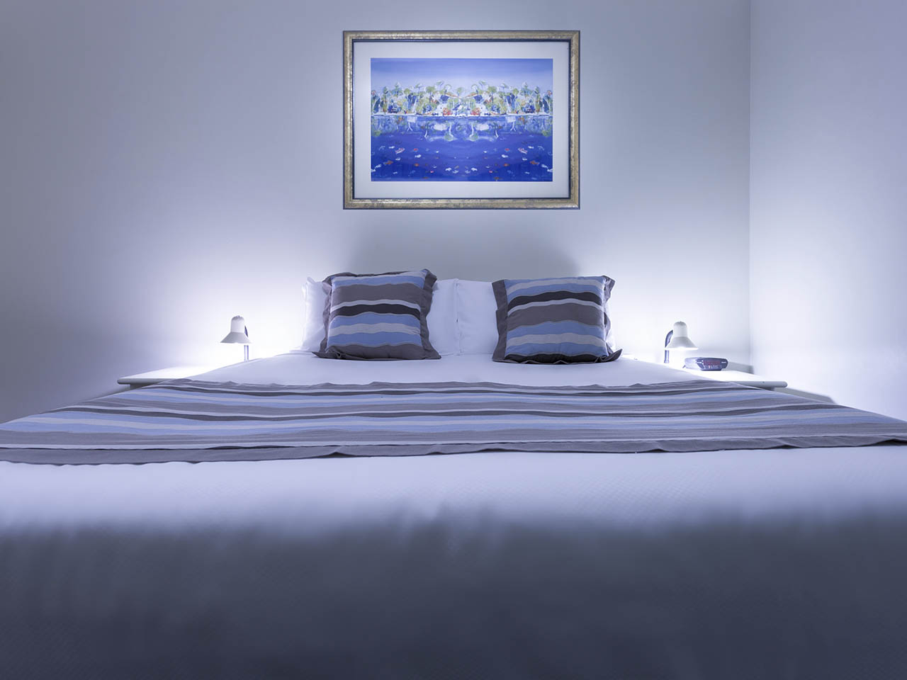 Beach Themed Hotel Room.