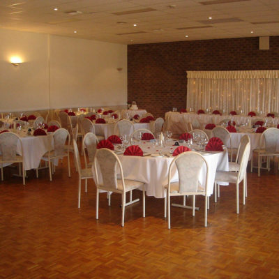 Tables And Chairs Setup For An Event Or Wedding