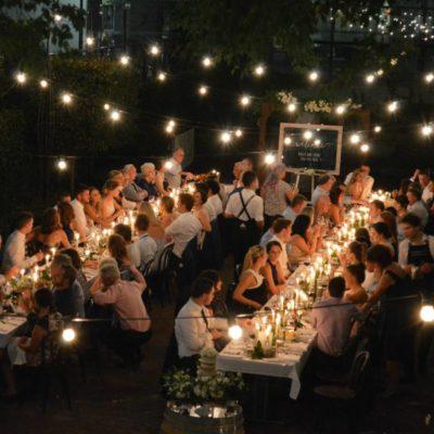 Perth outdoor wedding reception