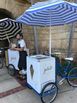 Perth event supplier Ice cream bicycle and cart and server