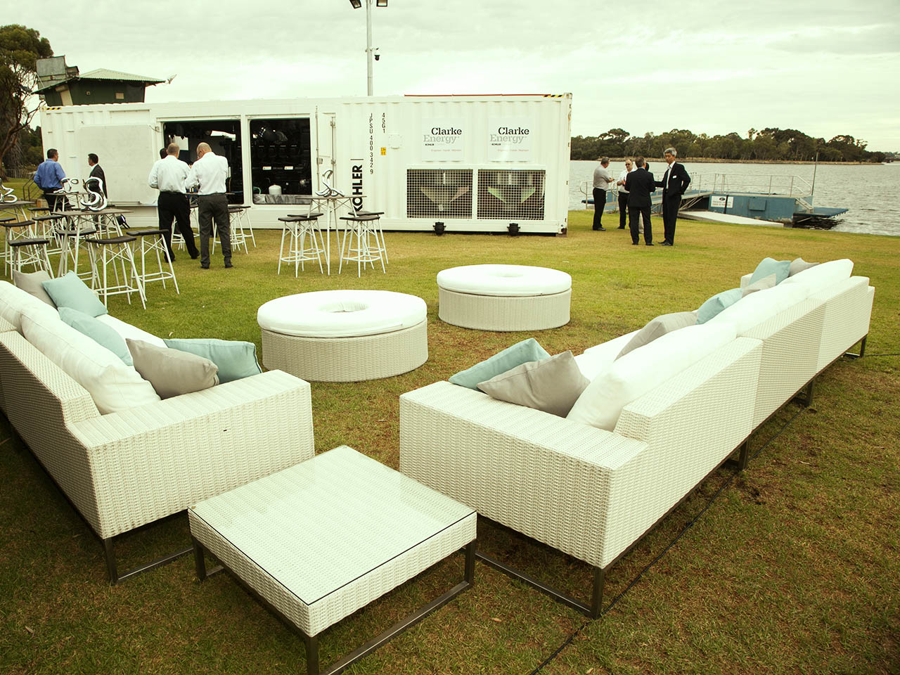 Outdoor event venue Swan river
