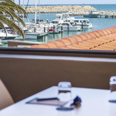 Venue with marina views