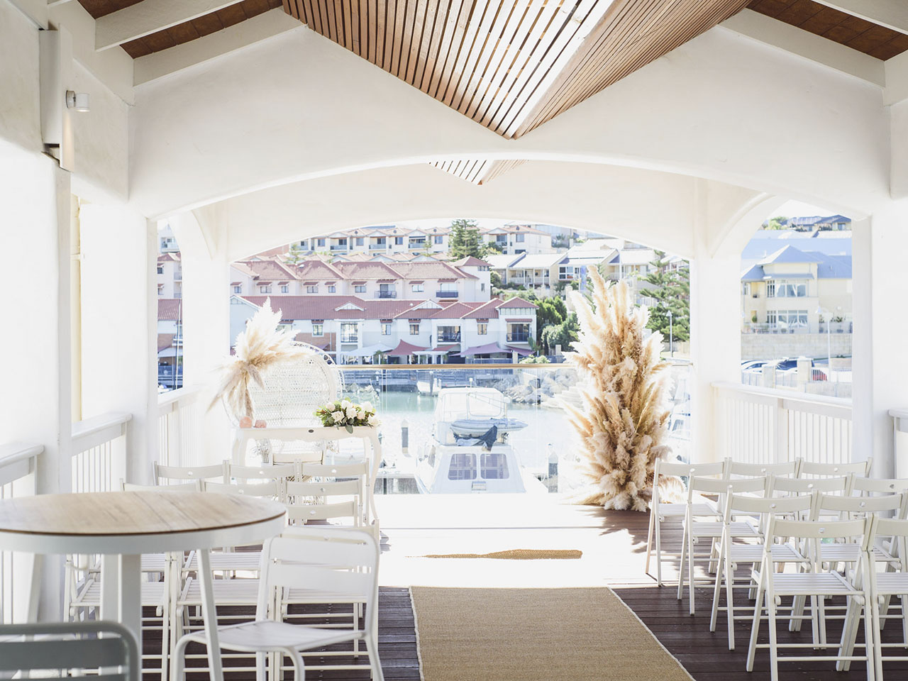 Wedding venue by the water