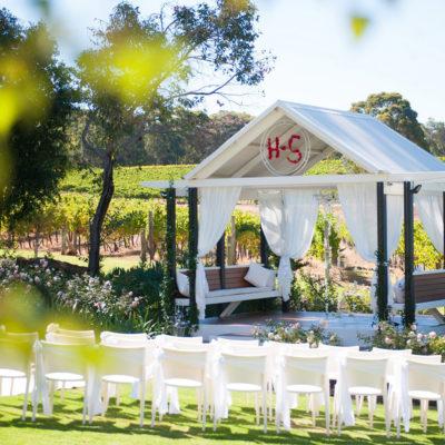 Garden Wedding Setup with Backdrop