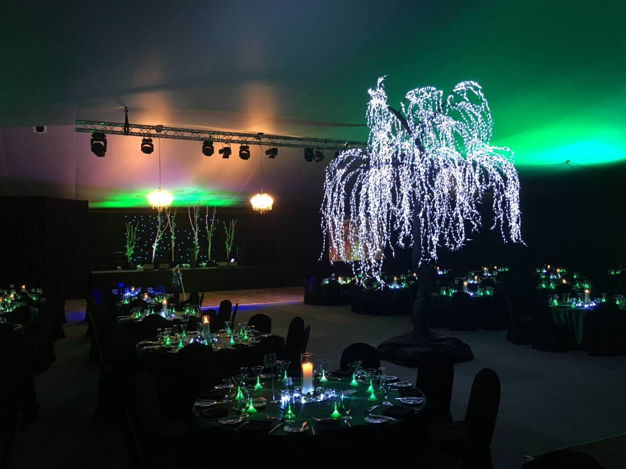 Lights And Special Effects Inside The Venue.
