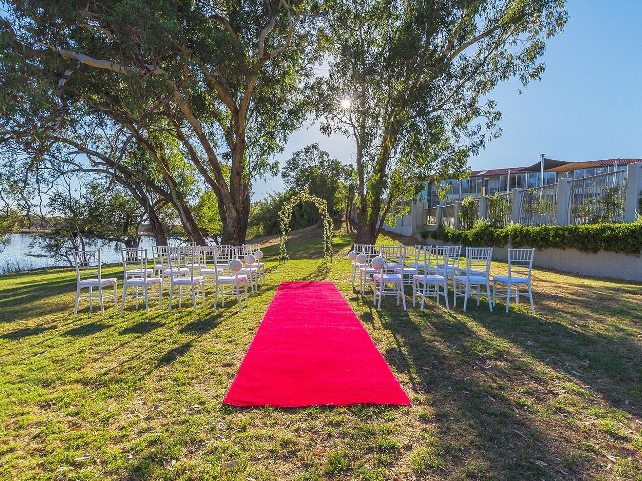 River Side Wedding Ceremony Setup