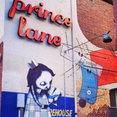 Wallart and Prince Lane's Signage