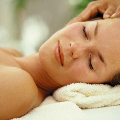 A Woman Getting Massaged.