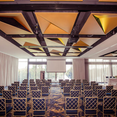 Chairs Set Up Seminar Style In The Function Room For A Corporate Event