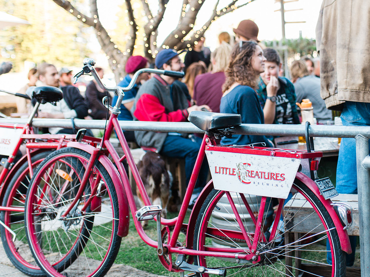 Little Creatures Red Vintage Bike