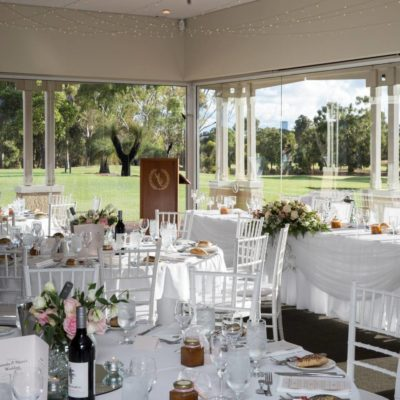 Large Function Room With Views of Golf Course Green