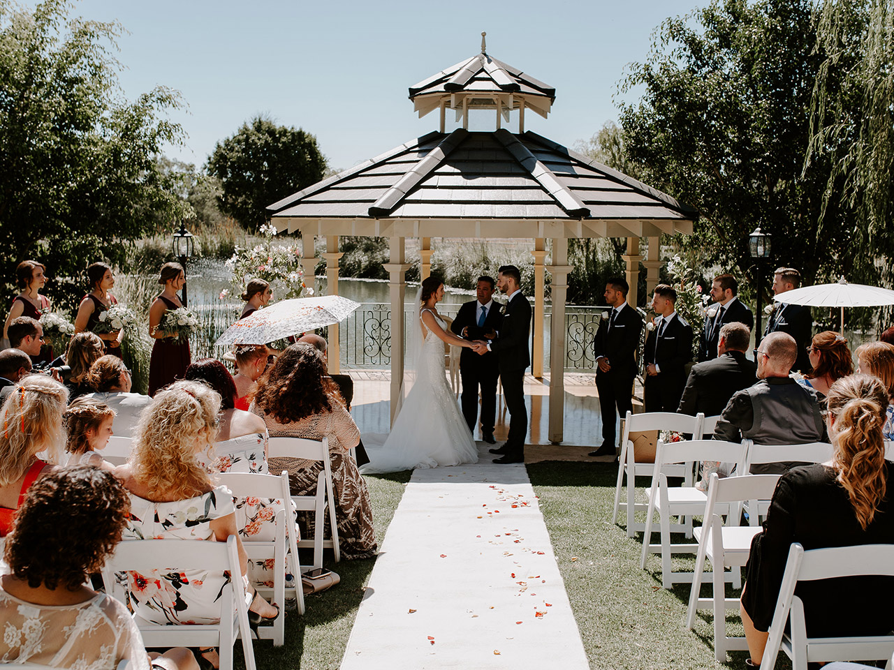 Wedding Ceremony In The Terrace