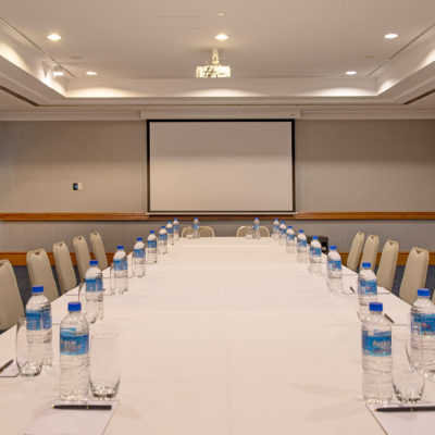 Large hotel meeting room
