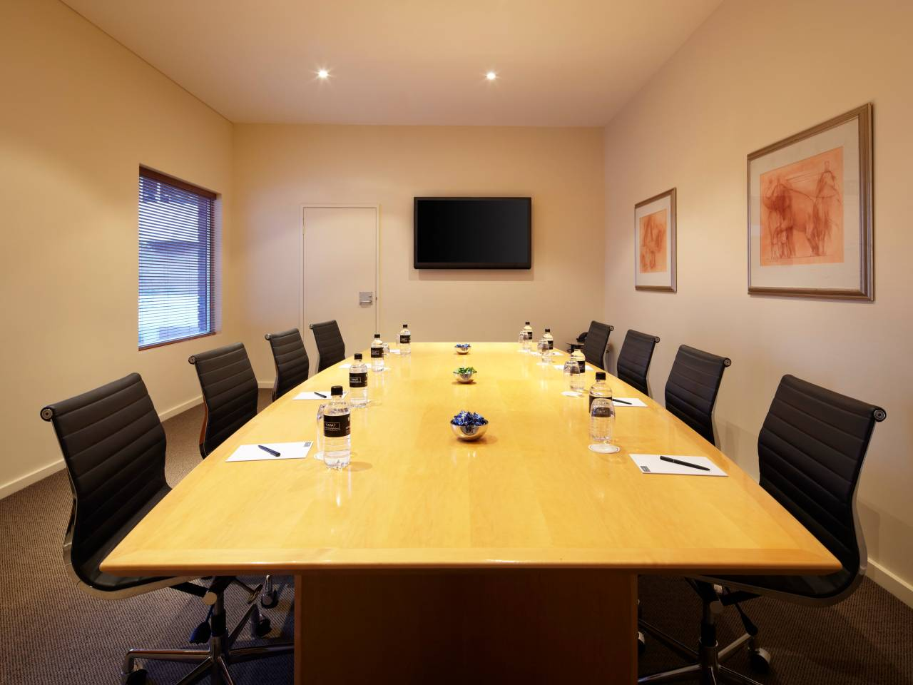 Boardroom Table And Chairs At A Hotel Meeting Room