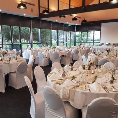 Banquet Style Setup Inside The Function Room