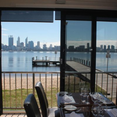 View From Inside of The Private Function Venue Overlooking The River And City Of Perth In The Distance