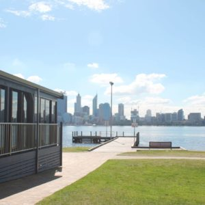 View Of Private Function Venue In South Perth With A View Across The River To The City