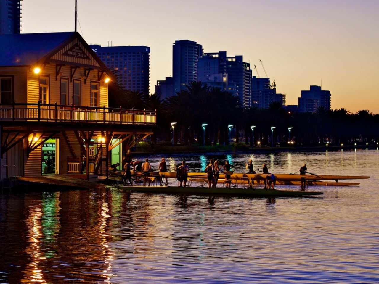 Venue On The Banks Of the Swan River at Dusk