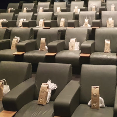 luxury cinema seats with party bags