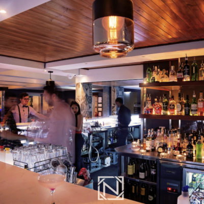 Night time bar scene serving drinks for venue hire