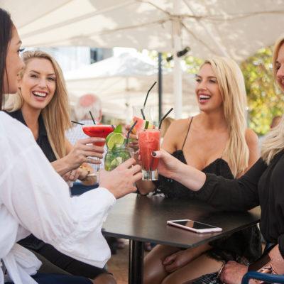 Girls Enjoying Their Drinks