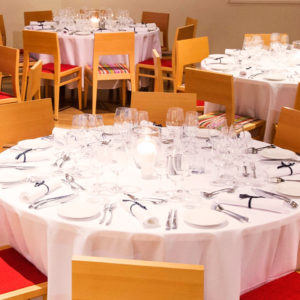 Tables And Chairs In Banquet Style Inside The Function Room