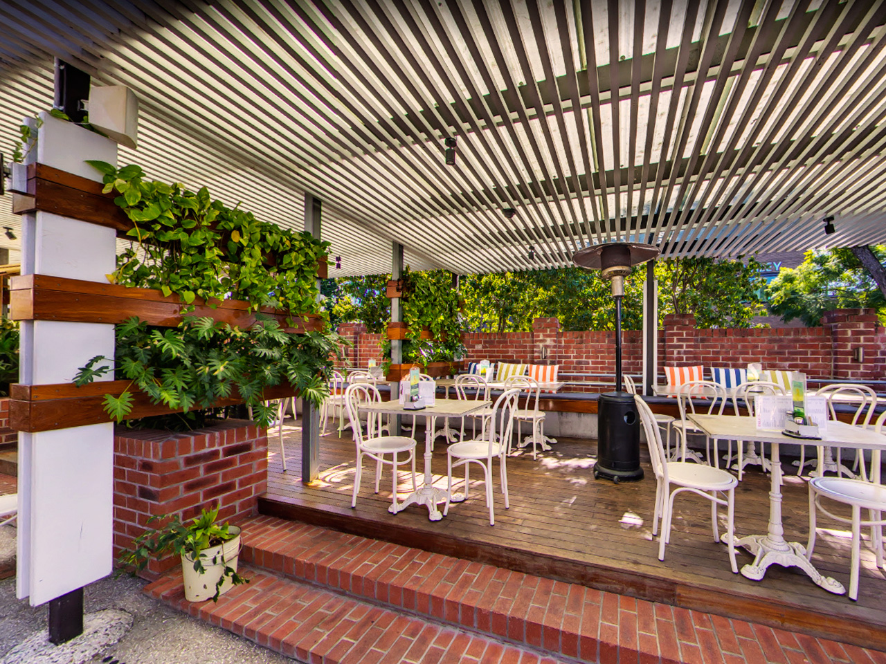 Tables And Chairs In The Garden Function Space With Ceiling