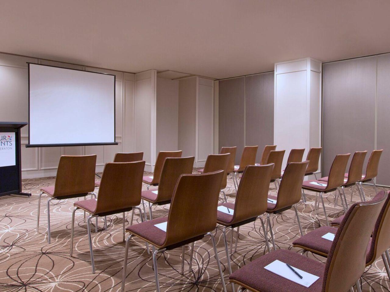 Classroom style meeting room