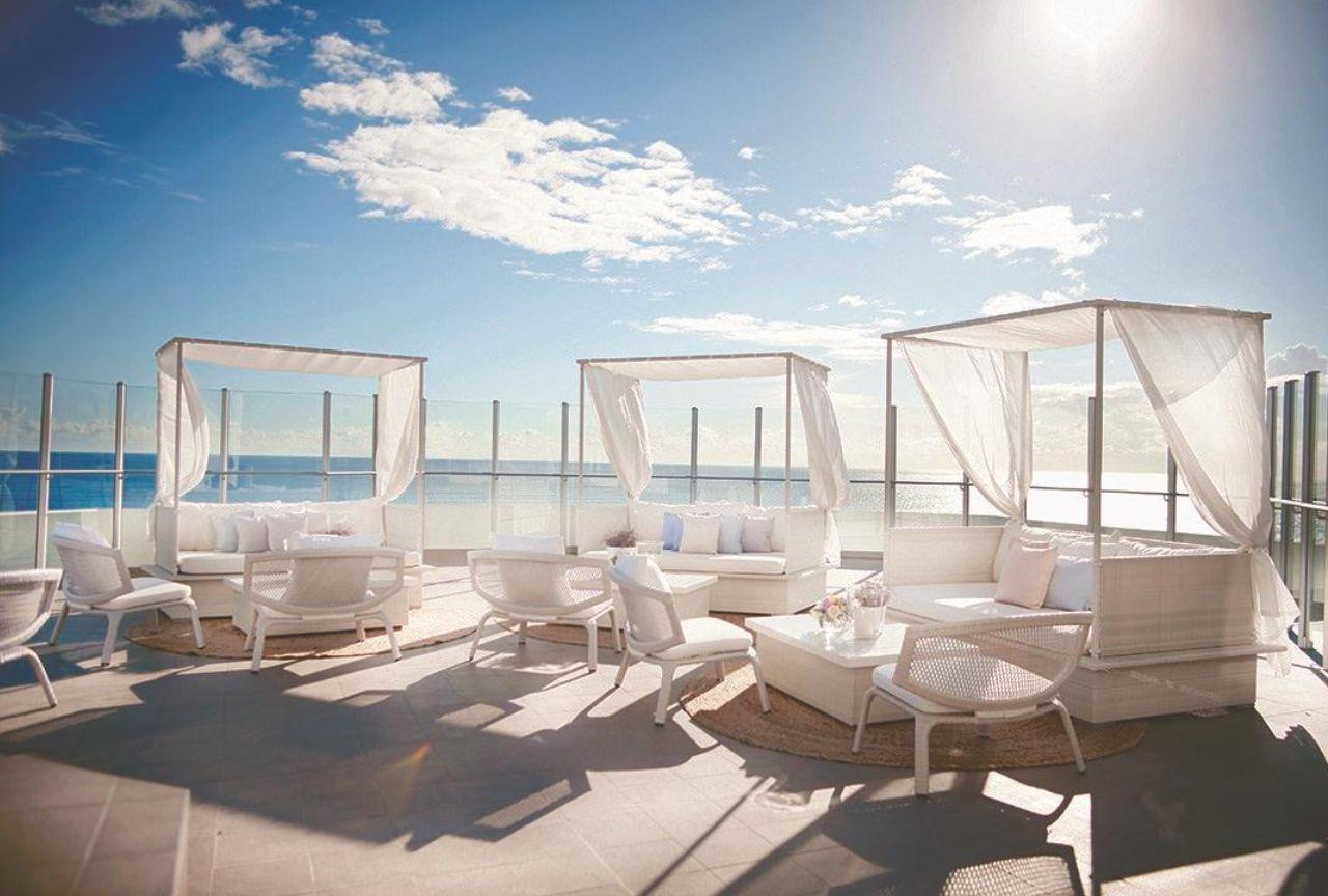 Deck with ocean views