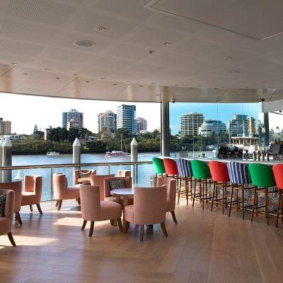 Open space venue overlooking river