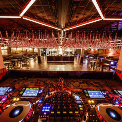 View of main room from DJ booth