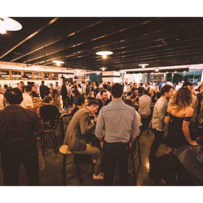 Crowded bar area