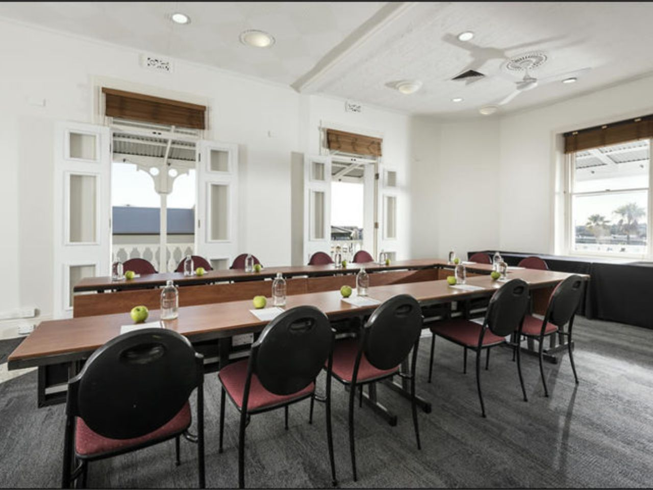 Small function room U-shaped table set up