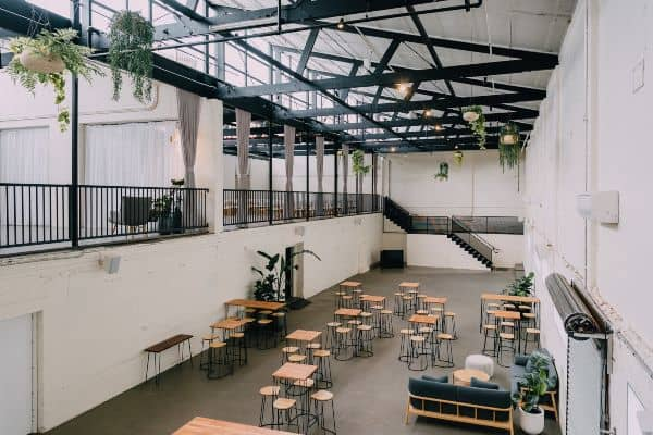 Restored warehouse venue