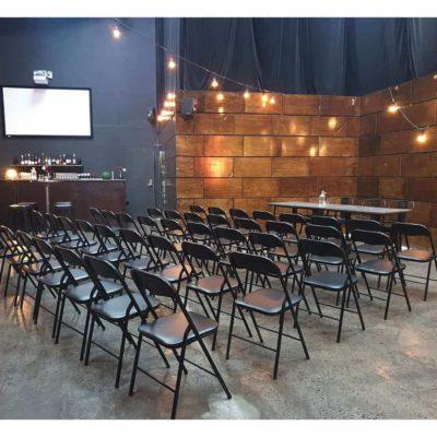 Sit-down event set up