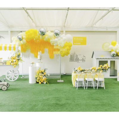 Yellow decorated function space