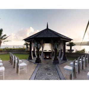 Wedding pergola overlooking the sea