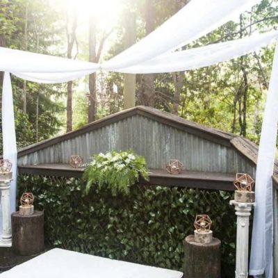 Stunning rainforest wedding ceremony setting