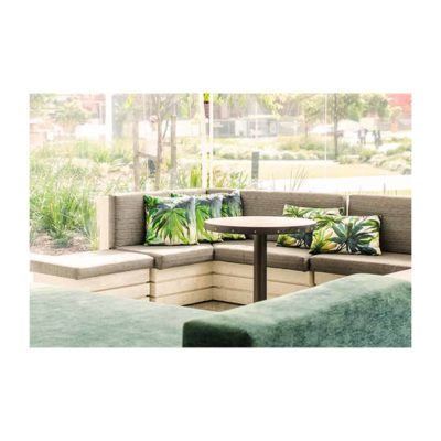 Lounge chairs in alfresco function space