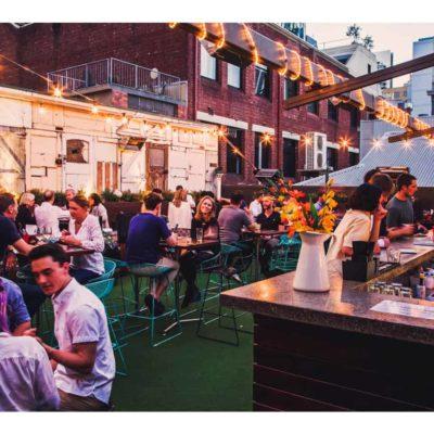 Rooftop bar venue