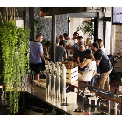 Outdoor bar venue space