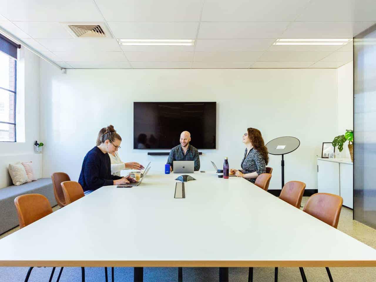 Modern boardroom