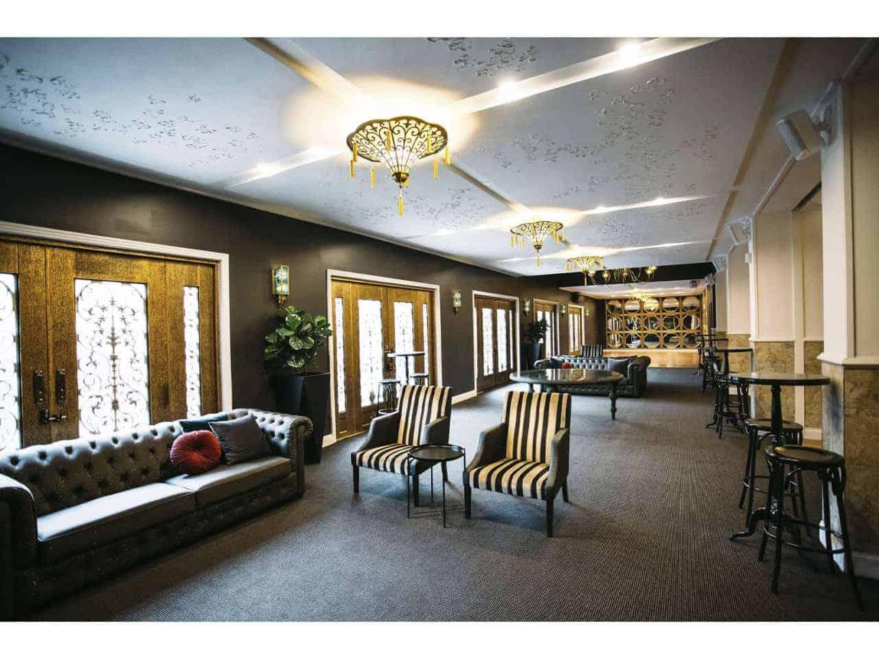 Unique indoor lounge